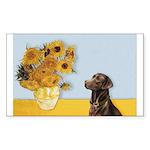 Sunflowers / Choc Lab 11 Sticker (Rectangle)