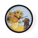 Sunflowers / Choc Lab 11 Wall Clock