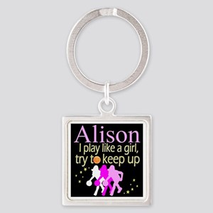 PLAY BASKETBALL Square Keychain