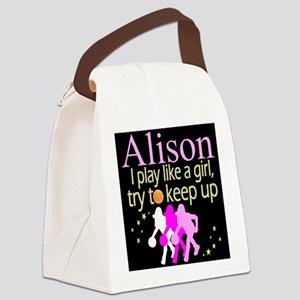 PLAY BASKETBALL Canvas Lunch Bag