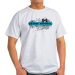 Grimm Apparel's Blue Logo Light T-Shirt