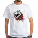 Dagger And Skull White T-Shirt
