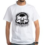 Spray Painted Skull White T-Shirt
