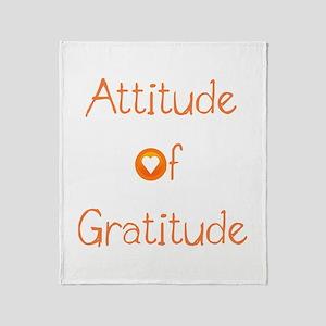 Attitude of Gratitude Throw Blanket