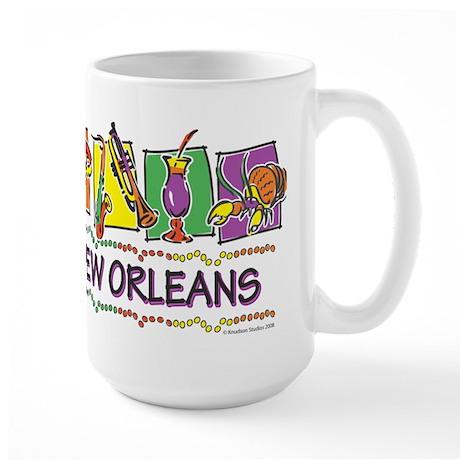 New Orleans Squares Large Mug