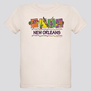 New Orleans Squares Organic Kids T-Shirt