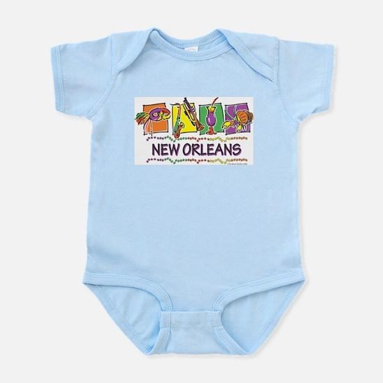 New Orleans Squares Infant Bodysuit