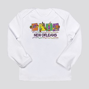 New Orleans Squares Long Sleeve Infant T-Shirt