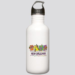 New Orleans Squares Stainless Water Bottle 1.0L