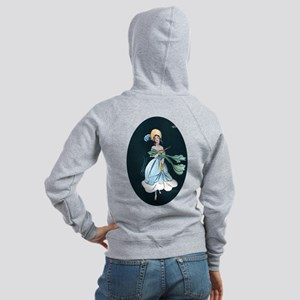 Girl in a Blue Dress Women's Zip Hoodie