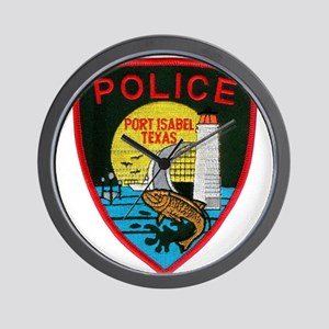Port Isabel Police Wall Clock