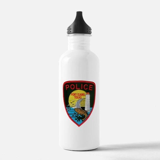 Port Isabel Police Water Bottle