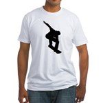 Go Snowboarding! Fitted T-Shirt