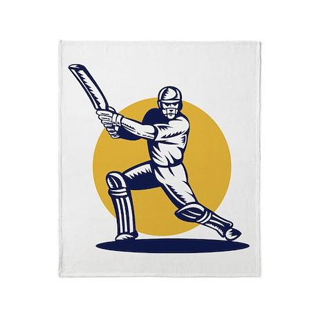cricket sports player Throw Blanket