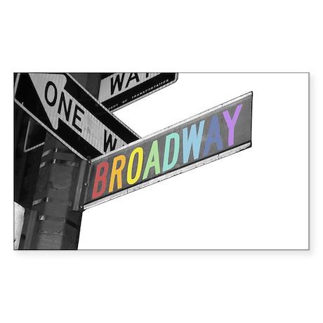 Broadway Sticker (Rectangle 50 pk)