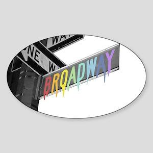 Broadway Sticker (Oval)