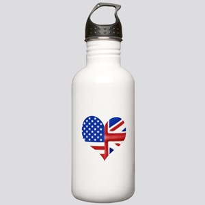 British American Heart Stainless Water Bottle 1.0L
