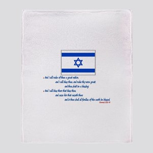 Gen 12: 2-3 Israel Flag - Throw Blanket