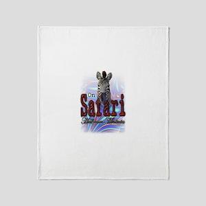 On Safari - Throw Blanket