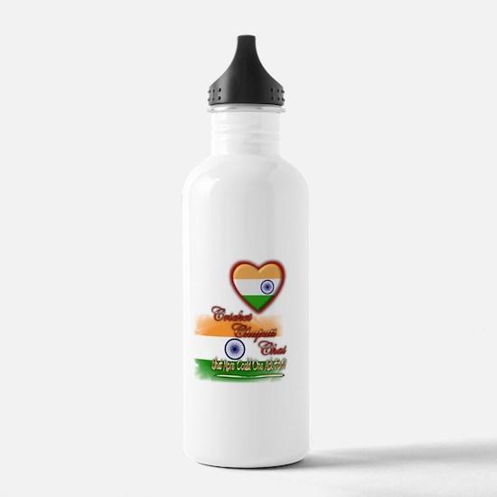 Cricket, chapati, chai - Water Bottle