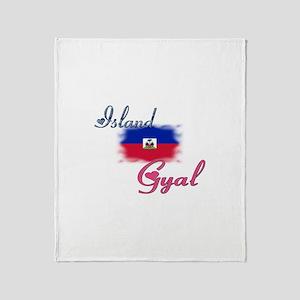 Island Gyal - Haiti Throw Blanket
