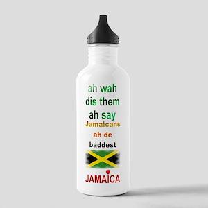 Jamaicans ah de baddest - Stainless Water Bottle 1
