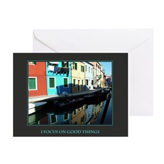 I Focus on Good Things Greeting Cards (Pk of 10)