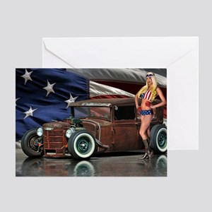 Rat Rod Studios 4th. Of July Greeting Card
