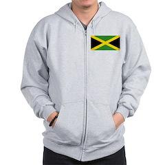 Jamaican Flag Zip Hoodie