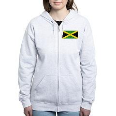 Jamaican Flag Women's Zip Hoodie