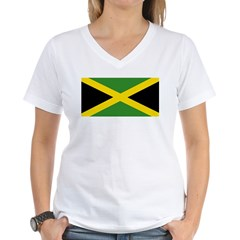 Jamaican Flag Women's V-Neck T-Shirt