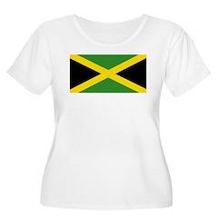 Jamaican Flag Women's Plus Size Scoop Neck T-Shirt