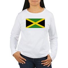 Jamaican Flag Women's Long Sleeve T-Shirt