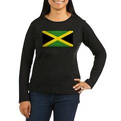Jamaican Flag Women's Long Sleeve Dark T-Shirt