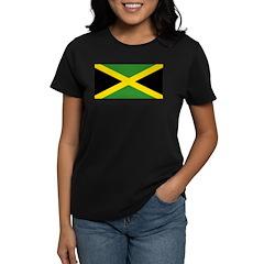 Jamaican Flag Women's Dark T-Shirt
