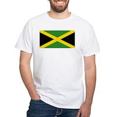 Jamaican Flag White T-Shirt