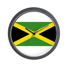 Jamaican Flag Wall Clock