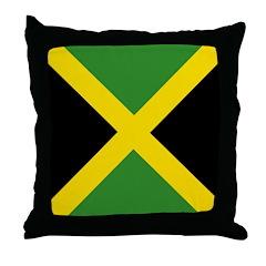 Jamaican Flag Throw Pillow