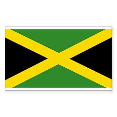 Jamaican Flag Sticker (Rectangle 10 pk)