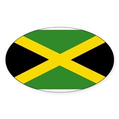 Jamaican Flag Sticker (Oval 50 pk)