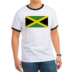 Jamaican Flag Ringer T