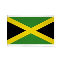 Jamaican Flag Rectangle Magnet (100 pack)