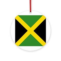 Jamaican Flag Ornament (Round)