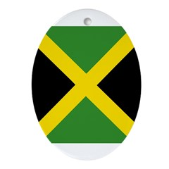 Jamaican Flag Ornament (Oval)