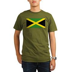 Jamaican Flag Organic Men's T-Shirt (dark)