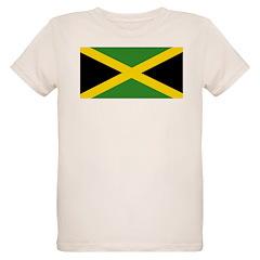 Jamaican Flag Organic Kids T-Shirt