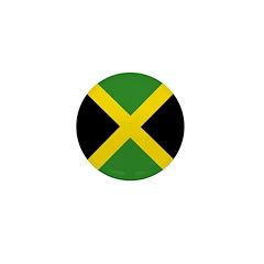 Jamaican Flag Mini Button (100 pack)
