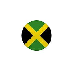 Jamaican Flag Mini Button