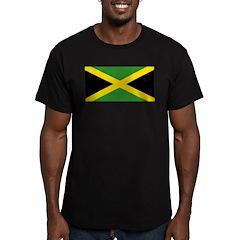 Jamaican Flag Men's Fitted T-Shirt (dark)