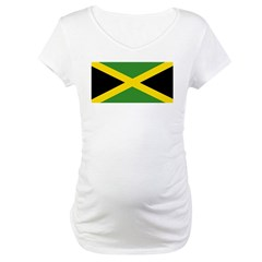 Jamaican Flag Maternity T-Shirt